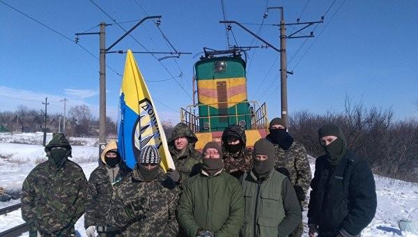 """Массовку """"блокады Донбасса"""" …"""