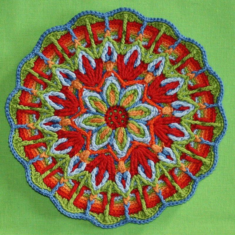 Мандала вязание