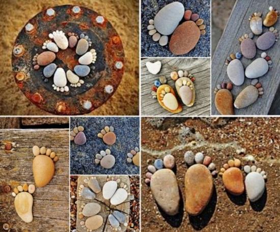 дверной коврик из камней