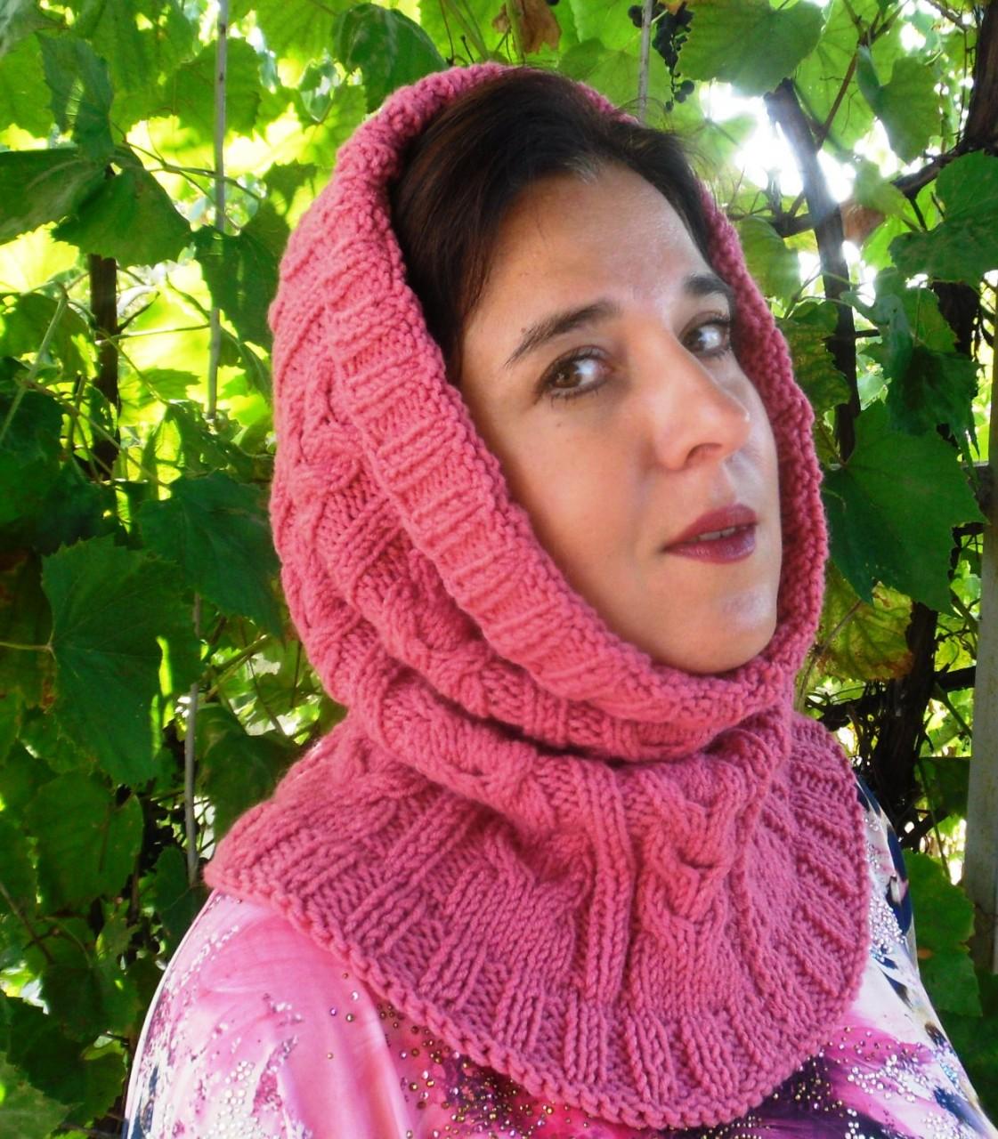 Вязание женского капора с «косами». Мастер-класс