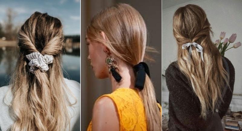 Как носить ленты и банты в волосах
