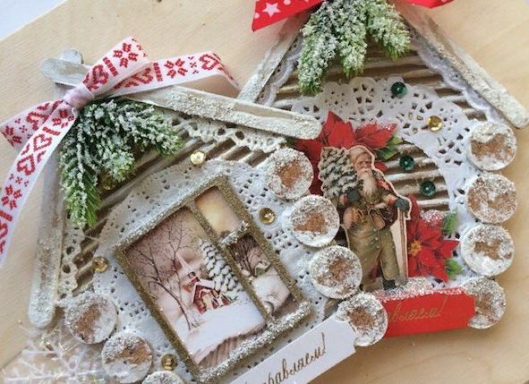 Мастер-класс по изготовлению новогодней открытки от Дарьи