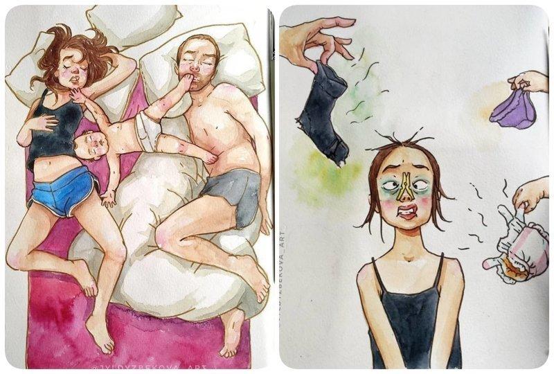 Забавные комиксы о повседневной жизни, которые поймут и прочувствуют только те, у кого есть дети