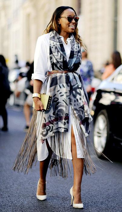 модное платье рубашка счем сочетать