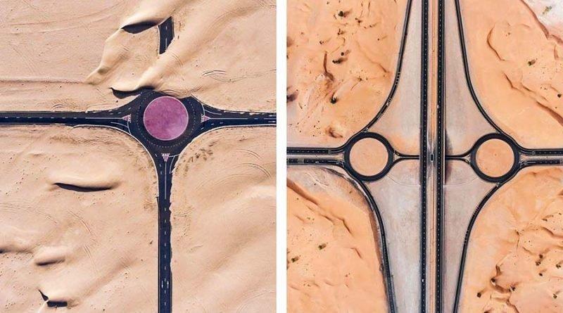 Удивительные фотографии того, как пустыня захватывает Дубай и Абу-Даби