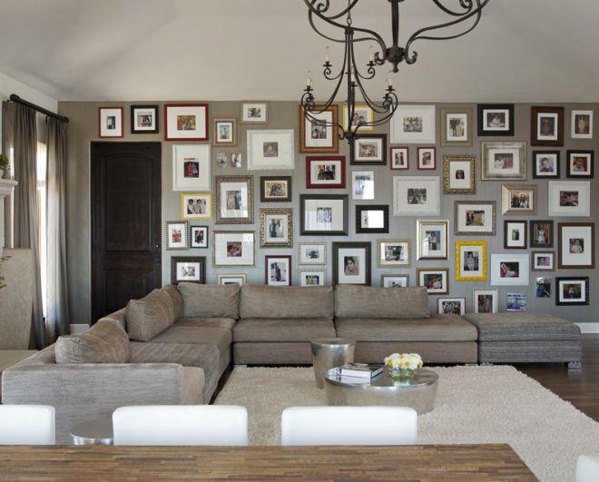 декор гостиной комнаты в современном стиле