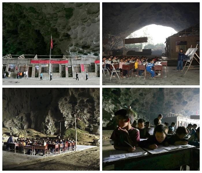 Бывшая школа пещерной деревни Чжундун.   Фото: youtube.com.