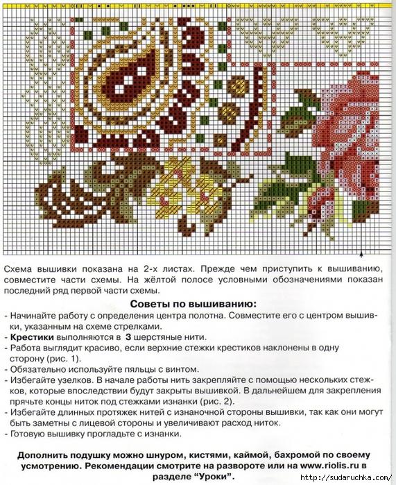 Идеи и схемы для вышивки крестом диванных подушек