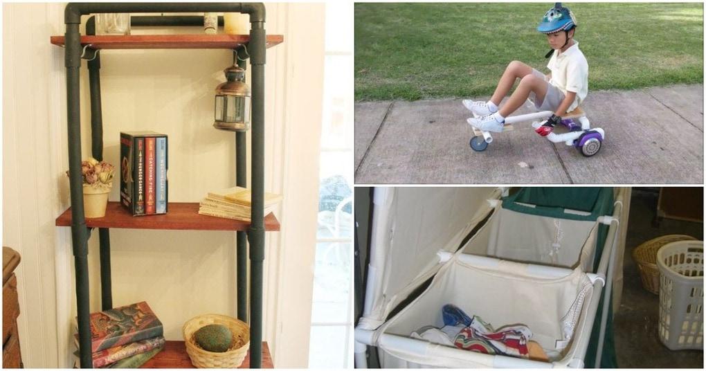 Умные способы использования труб ПВХ в вашем доме