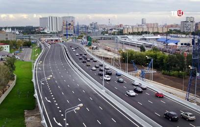 Собянин открыл для движения транспорта новый участок СВХ
