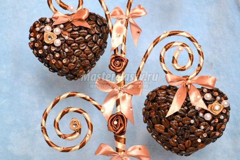 Кофейное сердце своими руками пошаговое фото