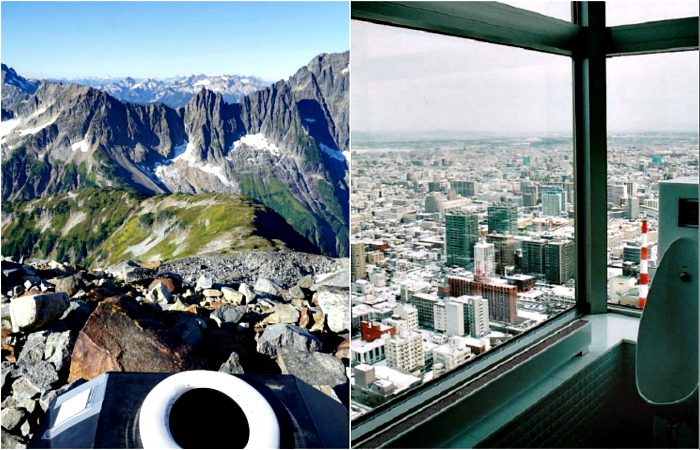 Как на ладони: 20 туалетных комнат, которые потрясают роскошными видами