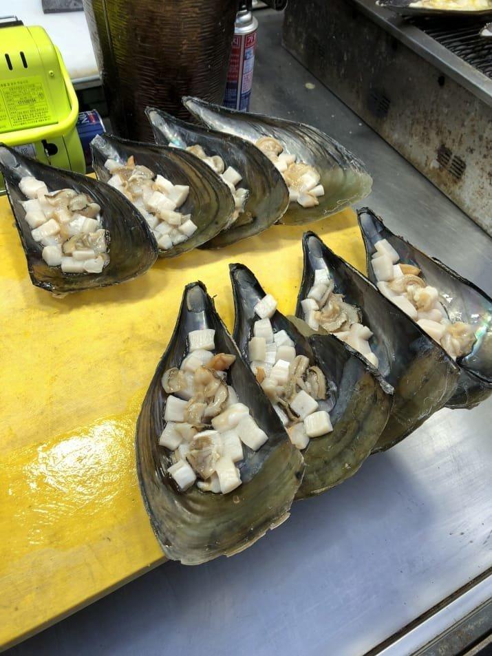 7. Гребешки, запеченные с сыром и маслом: $10 еда, еда быстро, сеул, уличная Еда, уличная еда, фастфуд, южная корея