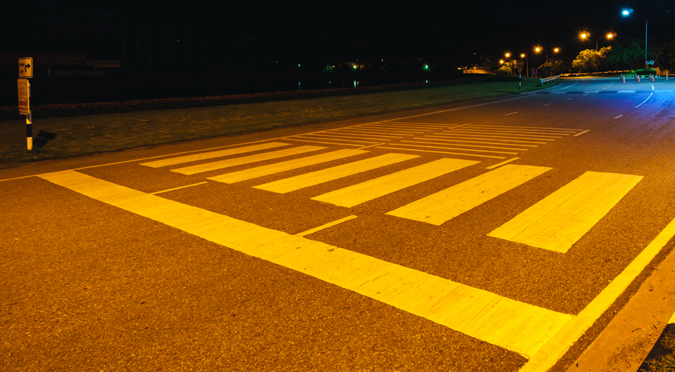 Crosswalk at night