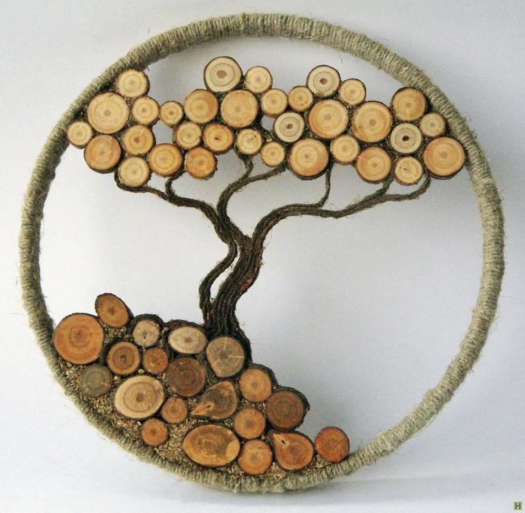 Украшения из спилов дерева