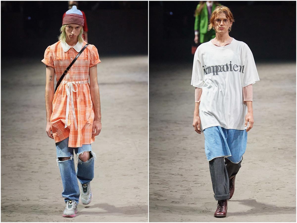 Женские платья и футболки с надписью «Импотент» — последний писк моды от Gucci