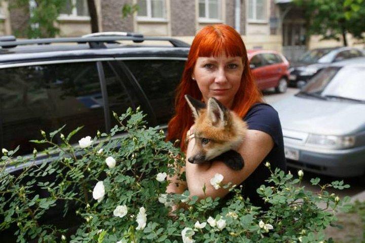 Девушка выкупила лисёнка со зверофермы, чтобы спасти ему жизнь
