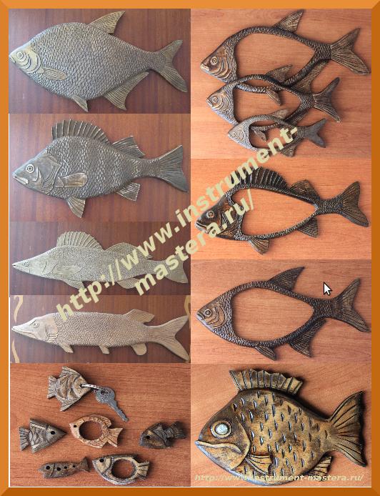 Рыбка своими руками из дерева