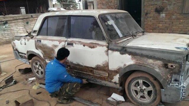 Автослесарь  вьетнамской провинции превратил ВАЗ-2107 в подобие Rolls-Royce