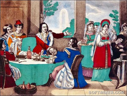 Питание Петра І во время строительства Империи