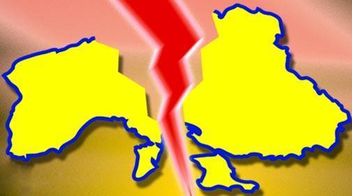 Разлом Украины на Малороссию…