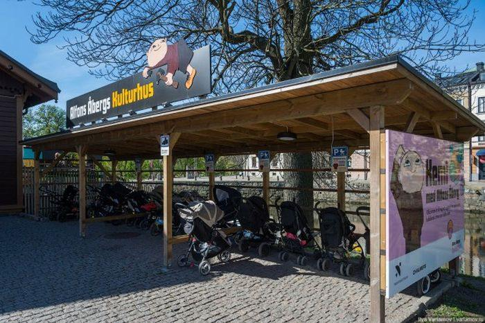 Оригинальные решения на улицах шведских городов