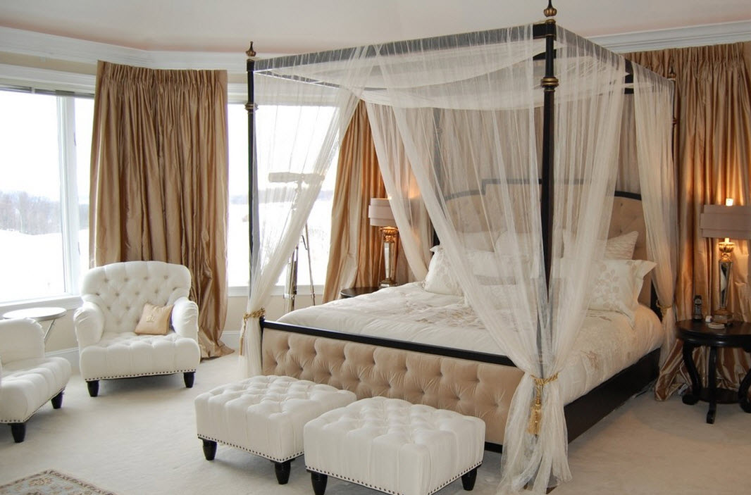 Фото балдахин над кроватью
