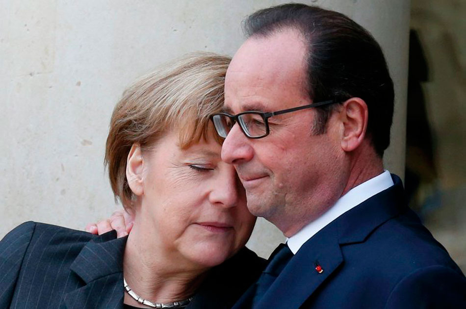 Олланд стал желт лицом. Фрау Меркель стало зябко. Обоим вспомнились рассказы дедушек и бабушек