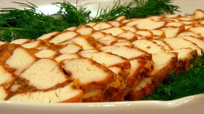 Восхитительная мясная закуска Мраморное мясо