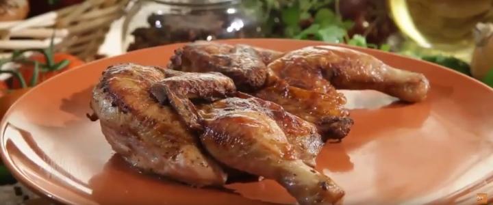 цыпленок табака в духовке с корочкой