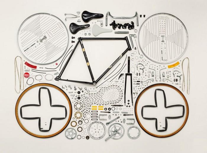 Велосипед, проект Things Come Apart от Тодда Маклеллана (Todd McLellan)