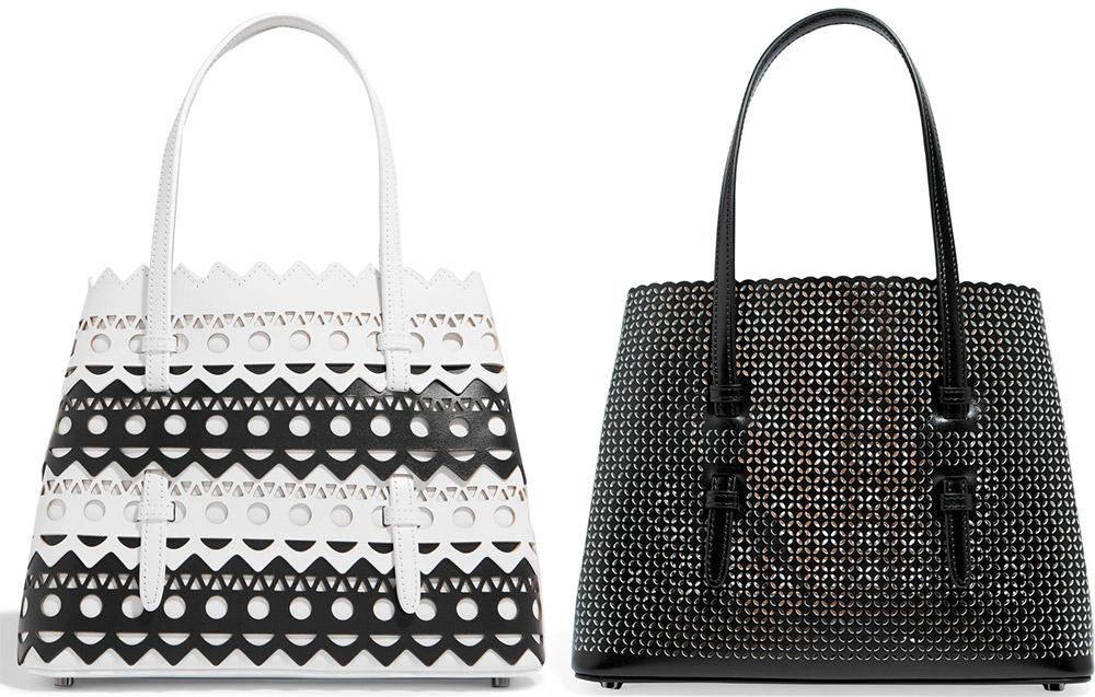 Модные сумки из перфорированных материалов