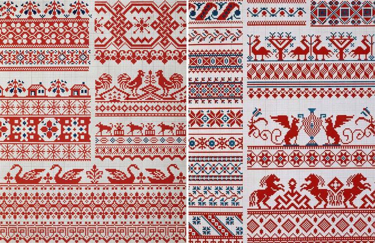 Русские народные орнаменты и узоры на вышивке 296