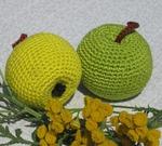 Схема для вязания крючком яблока