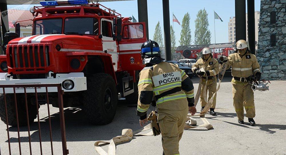 На месте взрыва в Гатчине ра…