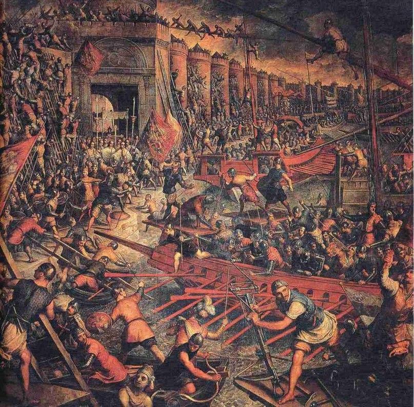 13 апреля 1204 года в ходе IV Крестового похода европейскими рыцарями - крестоносцами был взят Константинополь
