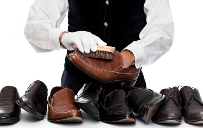 Чистка обуви из вывернутой кожи