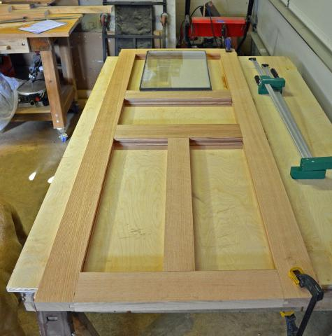 Деревянная дверь из массива сосны своими руками