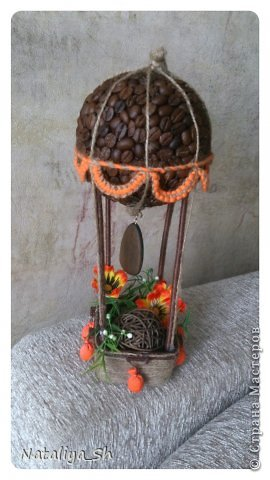 Мастер-класс Поделка изделие Моделирование конструирование Воздушный кофе-шар МК Кофе Шпагат фото 24