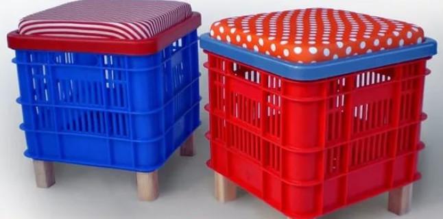 20 идей для применения пластмассовых тарных ящиков дома и на даче…