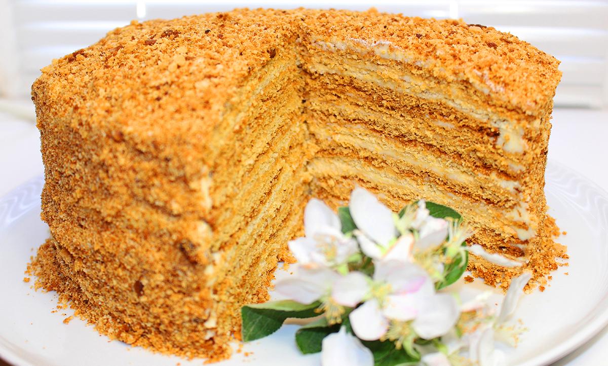 Как сделать медовый торт рецепт пошаговое