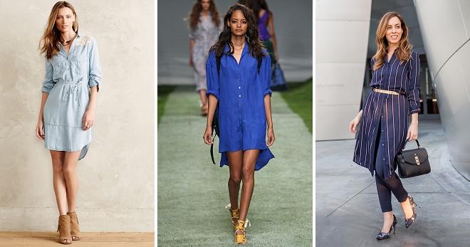 Платье-рубашка 2018 – самые модные модели этого года, тенденции и образы.