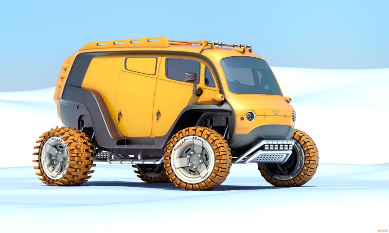 Ещё одна вариация на тему новой «Буханки». автомобили, ваз, газ, концепты, российские автомобили, уаз