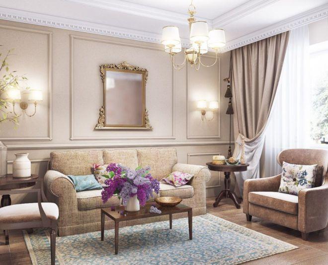 декор гостиной в стиле прованс