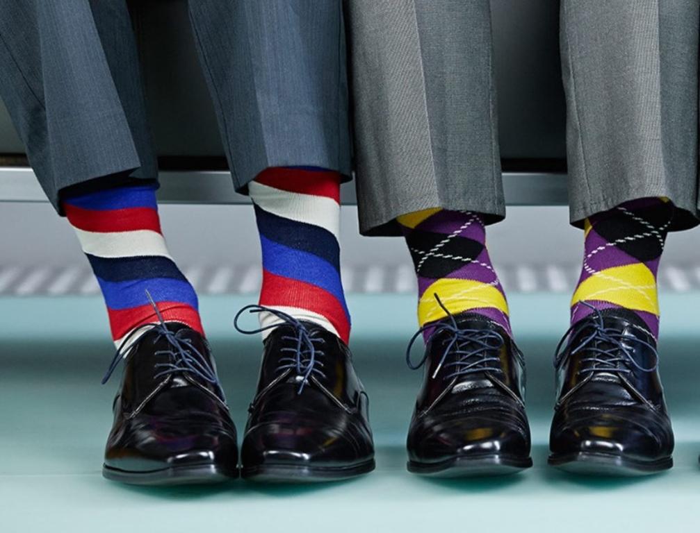 15 стильных носков с принтом дешевле 100 рублей