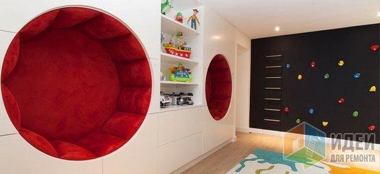 Оригинальные круглые ниши-диваны, интерьер Roselind Wilson Design