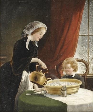 Sign. J.H. White, britischer Genremaler d. 19 (388x466, 99Kb)