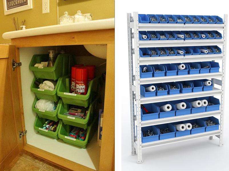 Хранение инструментов дома - хранение инструмента в кладовке.