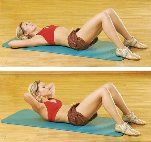 Тренировка верхних мышц преса