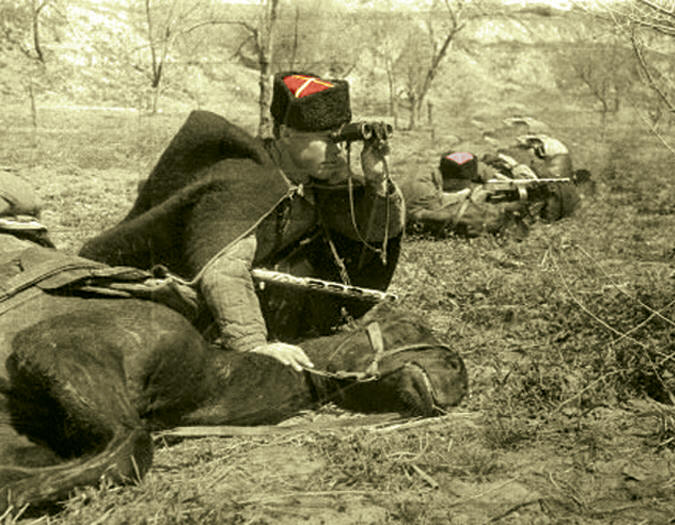 Как трое казаков порубили немецкую автоколонну